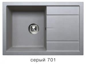 Кухонная мойка TOLERO R-112 кварцевая 76х51 см 9100 рублей, фото 4 | интернет-магазин Складно