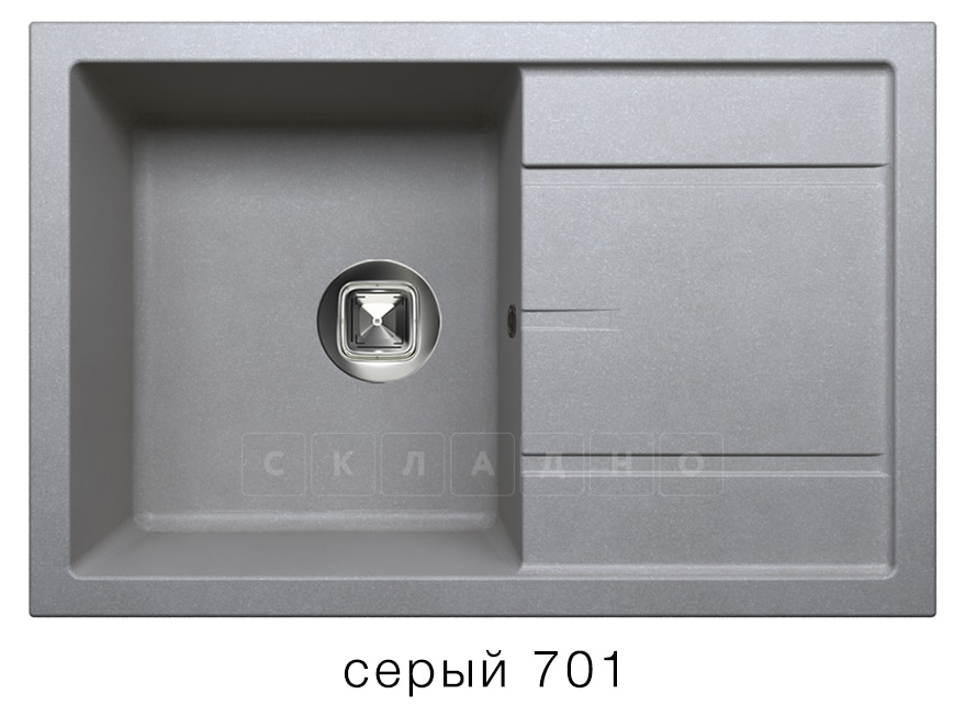 Кухонная мойка TOLERO R-112 кварцевая 76х51 см фото 4 | интернет-магазин Складно