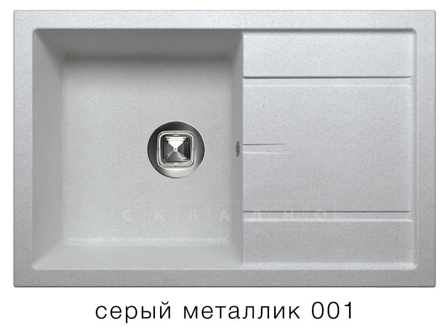 Кухонная мойка TOLERO R-112 кварцевая 76х51 см фото 2 | интернет-магазин Складно