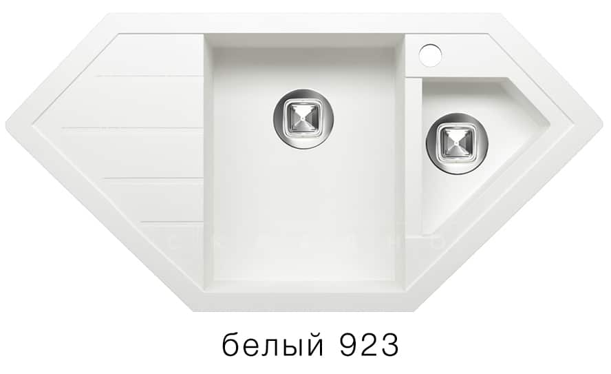Кухонная мойка TOLERO R-114 кварцевая 100х50 см угловая фото 8   интернет-магазин Складно
