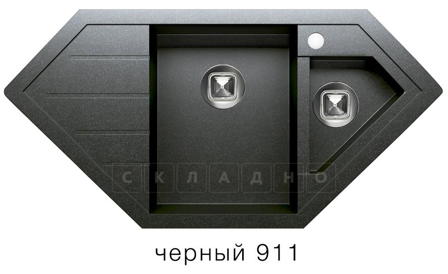 Кухонная мойка TOLERO R-114 кварцевая 100х50 см угловая фото 7   интернет-магазин Складно