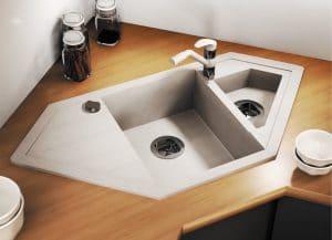 Кухонная мойка TOLERO R-114 кварцевая 100х50 см угловая 10400 рублей, фото 12   интернет-магазин Складно