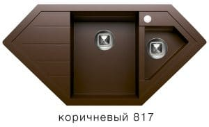 Кухонная мойка TOLERO R-114 кварцевая 100х50 см угловая 10400 рублей, фото 5   интернет-магазин Складно