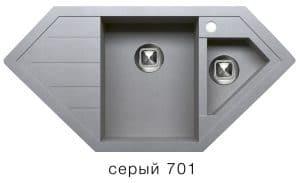 Кухонная мойка TOLERO R-114 кварцевая 100х50 см угловая 10400 рублей, фото 4   интернет-магазин Складно