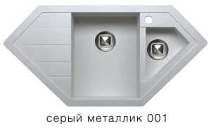 Кухонная мойка TOLERO R-114 кварцевая 100х50 см угловая 10400 рублей, фото 2   интернет-магазин Складно