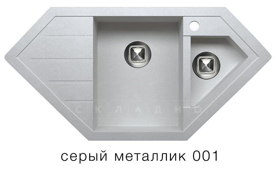 Кухонная мойка TOLERO R-114 кварцевая 100х50 см угловая фото 2   интернет-магазин Складно