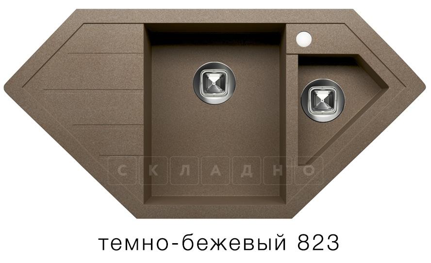 Кухонная мойка TOLERO R-114 кварцевая 100х50 см угловая фото 6   интернет-магазин Складно
