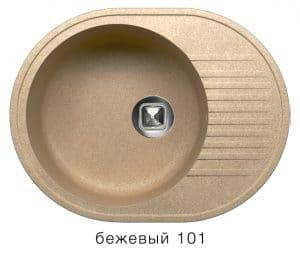 Кухонная мойка TOLERO R-122 кварцевая овальная  7000  рублей, фото 1   интернет-магазин Складно