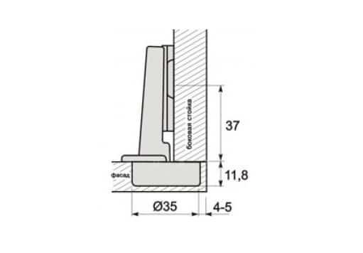 Петля дверная накладная 110 FGV с доводчиком фото 3 | интернет-магазин Складно