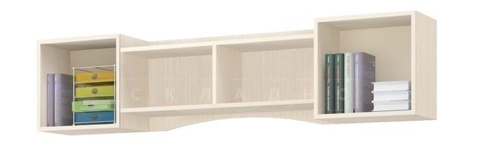 Полка настенная ДЮ-02 с дверцами, рамочный фасад фото 2 | интернет-магазин Складно