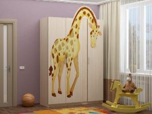 Шкаф в детскую Бемби-6 с фотопечатью 9960 рублей, фото 1 | интернет-магазин Складно