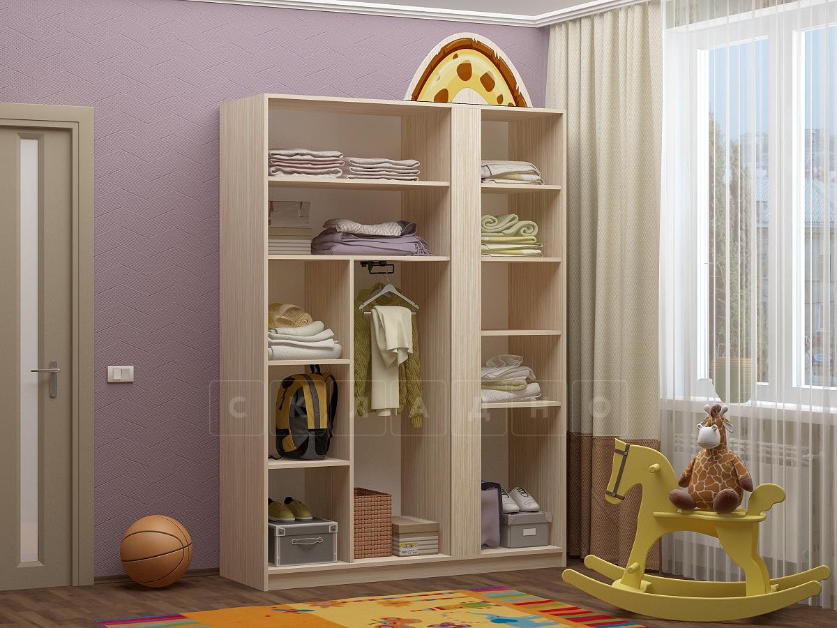 Шкаф в детскую Бемби-6 с фотопечатью фото 2 | интернет-магазин Складно