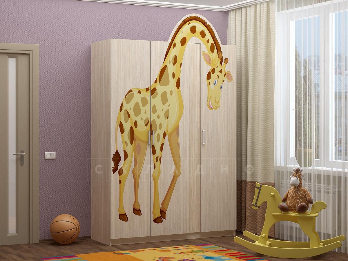 Шкаф в детскую Бемби-6 с фотопечатью фото 1 | интернет-магазин Складно
