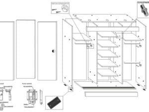 Шкаф-купе Альянс 1,5 м 20950 рублей, фото 7 | интернет-магазин Складно