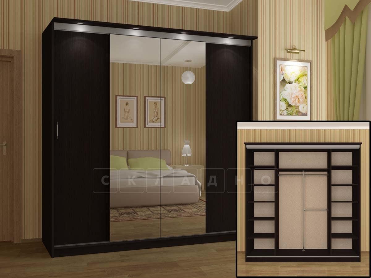 Шкаф-купе Альянс-3 с двумя зеркалами фото 4 | интернет-магазин Складно