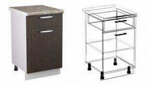 Кухонный шкаф напольный Шарлотта ШН1Я40 с 1 ящиком фото | интернет-магазин Складно