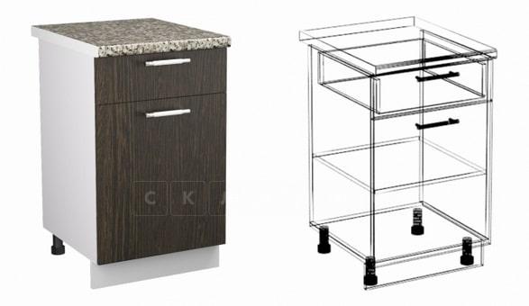 Кухонный шкаф напольный Шарлотта ШН1Я40 с 1 ящиком фото 1 | интернет-магазин Складно