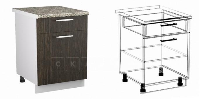Кухонный шкаф напольный Шарлотта ШН1Я50 с 1 ящиком фото 1 | интернет-магазин Складно