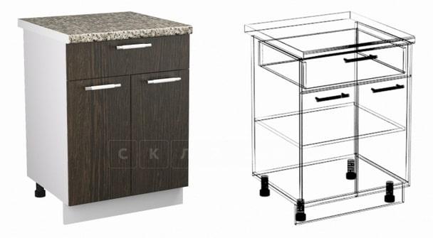 Кухонный шкаф напольный Шарлотта ШН1Я60 с 1 ящиком фото 1 | интернет-магазин Складно