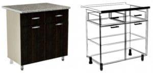 Кухонный шкаф напольный Лофт ШН2Я2С80 с 2 ящиками и 2 створками фото | интернет-магазин Складно