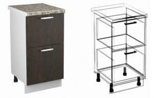 Кухонный шкаф напольный Шарлотта ШН2Я30 с 2 ящиками фото | интернет-магазин Складно