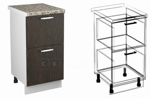 Кухонный шкаф напольный Шарлотта ШН2Я30 с 2 ящиками фото 1 | интернет-магазин Складно