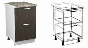 Кухонный шкаф напольный Шарлотта ШН2Я40 с 2 ящиками фото | интернет-магазин Складно