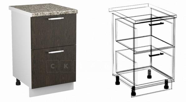Кухонный шкаф напольный Шарлотта ШН2Я40 с 2 ящиками фото 1 | интернет-магазин Складно