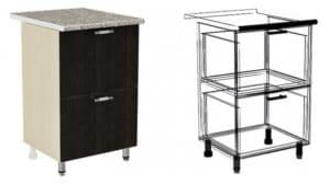 Кухонный шкаф напольный Лофт ШН2Я40 с 2 ящиками фото | интернет-магазин Складно