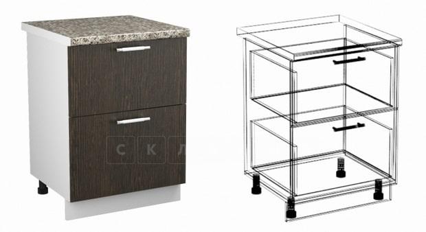 Кухонный шкаф напольный Шарлотта ШН2Я60 с 2 ящиками фото 1 | интернет-магазин Складно