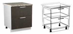 Кухонный шкаф напольный Шарлотта ШН2Я80 с 2 ящиками фото | интернет-магазин Складно