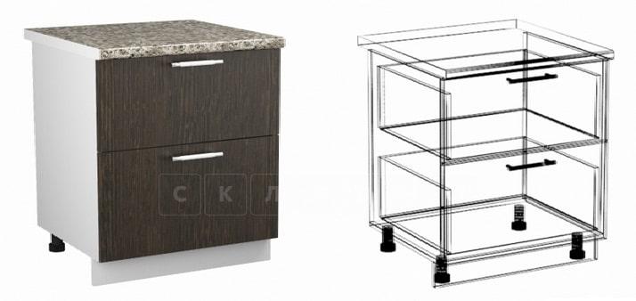 Кухонный шкаф напольный Шарлотта ШН2Я80 с 2 ящиками фото 1   интернет-магазин Складно