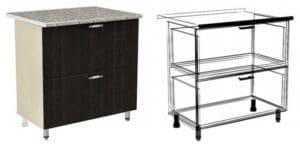 Кухонный шкаф напольный Лофт ШН2Я80 с 2 ящиками фото | интернет-магазин Складно