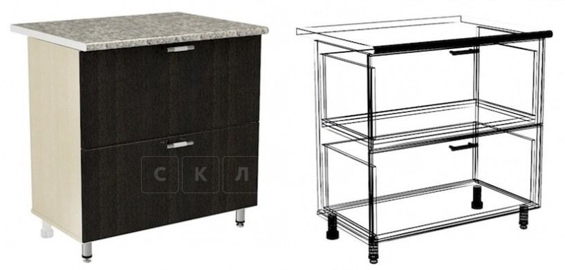 Кухонный шкаф напольный Лофт ШН2Я60 с 2 ящиками фото 1 | интернет-магазин Складно