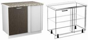 Кухонный шкаф напольный угловой Шарлотта ШНУ100 фото | интернет-магазин Складно