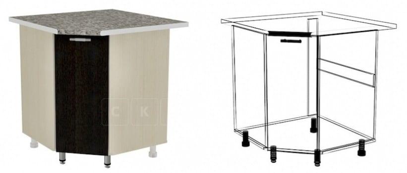 Кухонный шкаф напольный угловой Лофт ШНУ80 фото 1 | интернет-магазин Складно