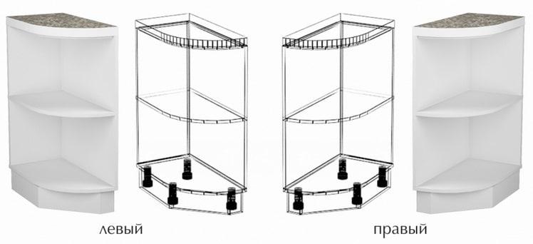 Кухонный шкаф напольный торцевой открытый Гинза ШНПУ30 фото 1 | интернет-магазин Складно
