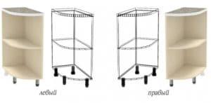 Кухонный шкаф напольный торцевой открытый Кариба ШНПУ30 фото | интернет-магазин Складно
