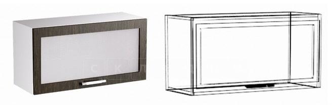 Кухонный навесной шкаф газовка со стеклом Шарлотта ШВГС50 фото 1 | интернет-магазин Складно