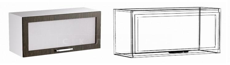 Кухонный навесной шкаф газовка со стеклом Шарлотта ШВГС-60 фото 1 | интернет-магазин Складно