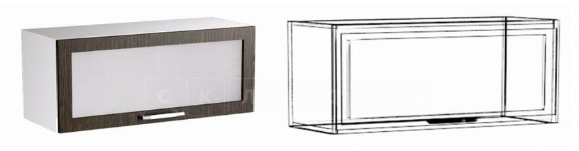 Кухонный навесной шкаф газовка со стеклом Шарлотта ШВГС80 фото 1 | интернет-магазин Складно