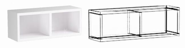 Кухонный навесной шкаф открытый Шарлотта ШВО50 фото 1 | интернет-магазин Складно