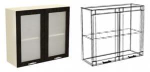 Кухонный навесной шкаф со стеклом Шарлотта ШВС60 фото | интернет-магазин Складно
