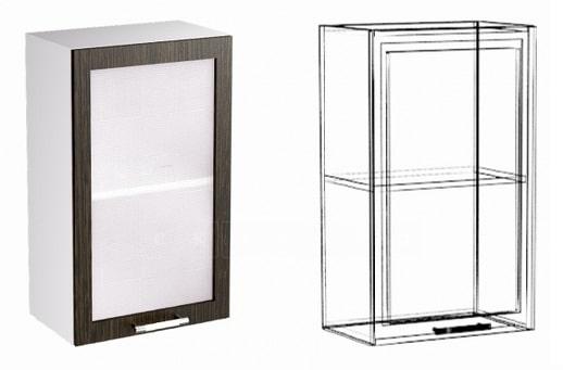 Кухонный навесной шкаф со стеклом Шарлотта ШВС30 фото 1 | интернет-магазин Складно