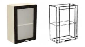 Кухонный навесной шкаф со стеклом Шарлотта ШВС30 фото | интернет-магазин Складно