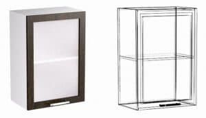 Кухонный навесной шкаф со стеклом Шарлотта ШВС40 фото | интернет-магазин Складно