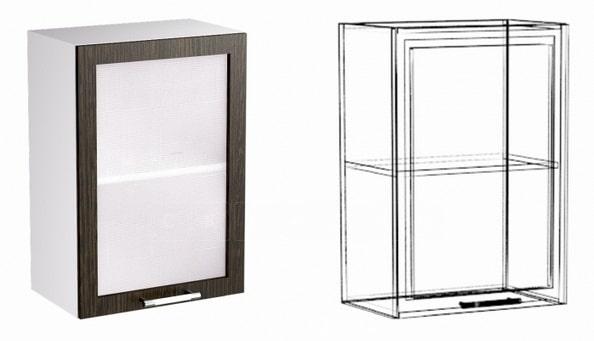 Кухонный навесной шкаф со стеклом Шарлотта ШВС40 фото 1 | интернет-магазин Складно