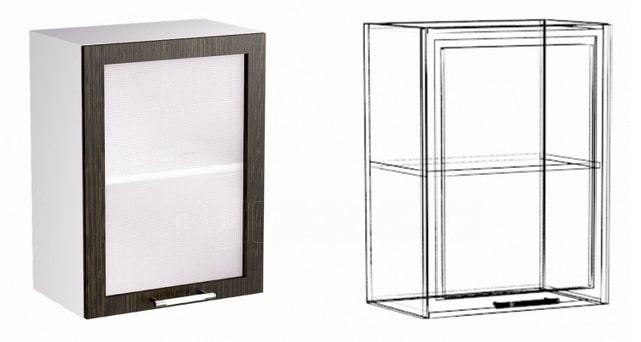 Кухонный навесной шкаф со стеклом Шарлотта ШВС50 фото 1 | интернет-магазин Складно
