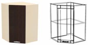 Кухонный навесной шкаф угловой Шарлотта ШВУ50 фото | интернет-магазин Складно