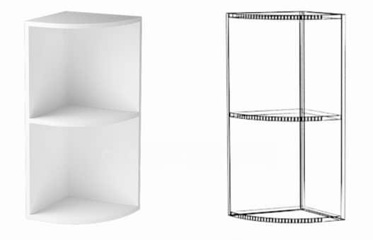 Кухонный навесной шкаф торцевой открытый Шарлотта ШВПУ30 фото 1 | интернет-магазин Складно